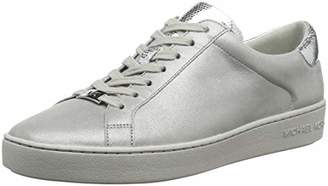 76811b70a4e2 Michael Kors Women s s Irving Lace Up Trainers Silver 040