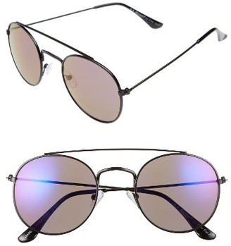 Women's A.j. Morgan Morever 52Mm Sunglasses - Black / Blue Mirror $24 thestylecure.com