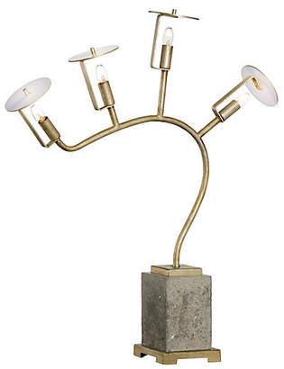Chelsea House Orchid Table Lamp - Concrete