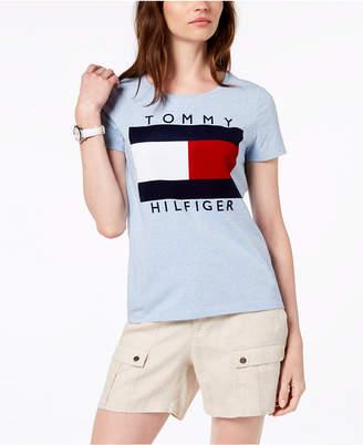 Tommy Hilfiger Velvet-Flocked Logo T-Shirt, Created for Macy's