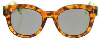 Fendi Tortoiseshell Mirror Sunglasses