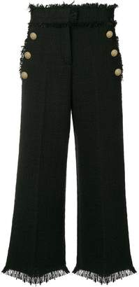 MSGM cropped tweed trousers