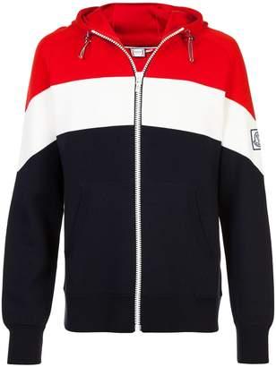 Moncler Gamme Bleu striped zipped jacket