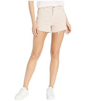 Hudson Jeans Gemma Mid-Rise Cut Off Jean Shorts in Distressed Dusty Rose