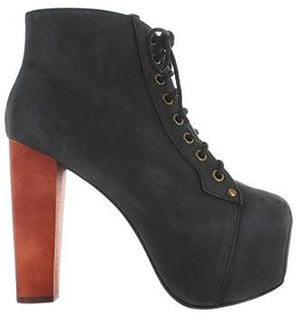 Jeffrey Campbell Womens Lita- Distressed-8.5-Booties-LITA