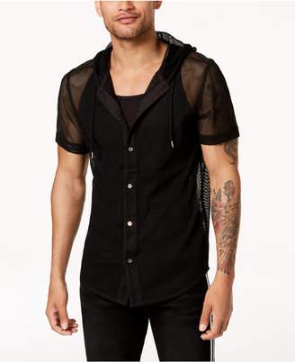 INC International Concepts Mr. Turk X I.n.c. Men's Big Mesh Hooded Shirt, Created for Macy's