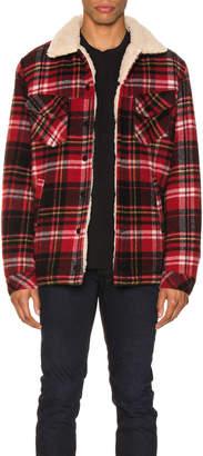 Nudie Jeans Lenny Plaid Jacket in Red Alert   FWRD