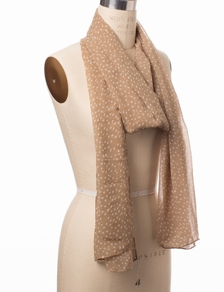The Limited Silky Polka Dot Scarf