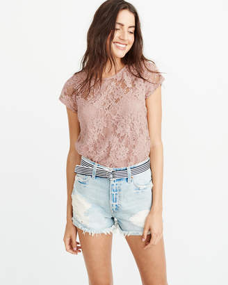 Abercrombie & Fitch Bow-Back Lace Top