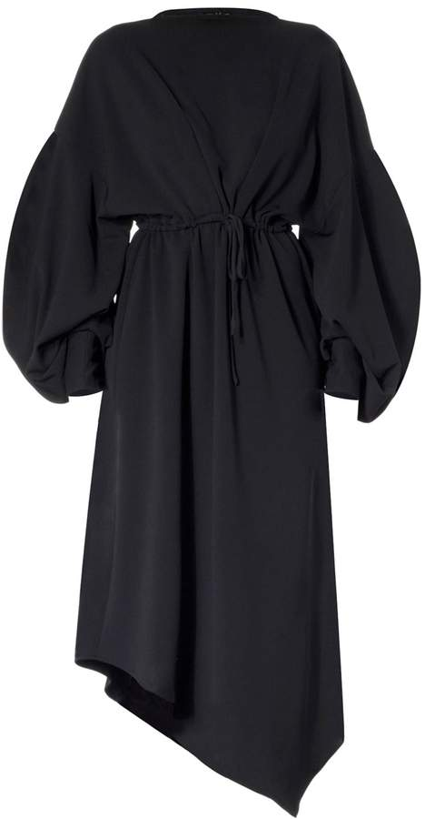 Meem Label Oversized Asymmetric Black Dress
