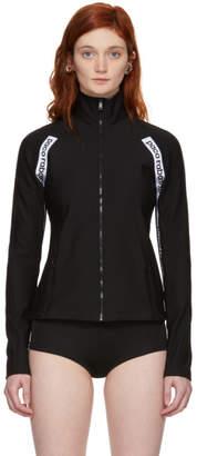Paco Rabanne Black Logo Zip-Up Jacket