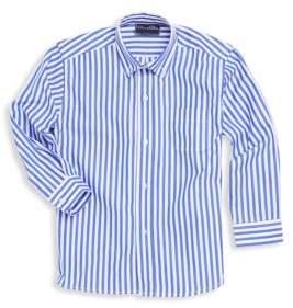 Oscar de la Renta Little Boy's and Boy's Striped Cotton Collared Shirt