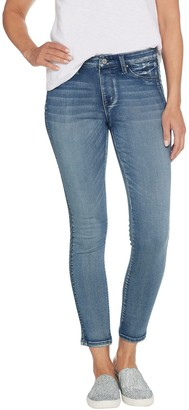 Laurie Felt Silky Denim Tuxedo-Stitch Skinny Pull-On Jeans