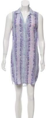 Equipment Button-Up Silk Dress