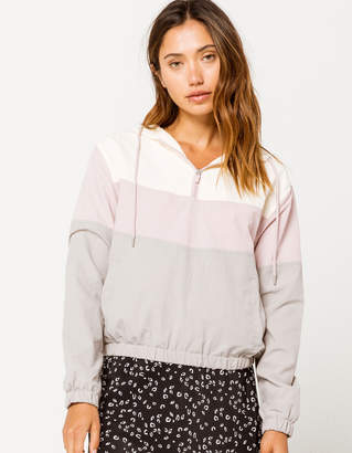 Full Tilt Color Block Womens Windbreaker Jacket