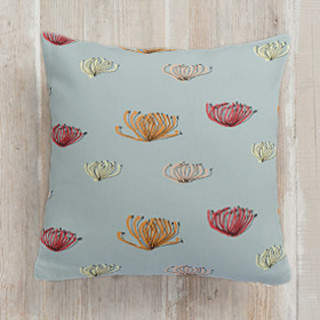 pincushion proteas Self-Launch Square Pillows