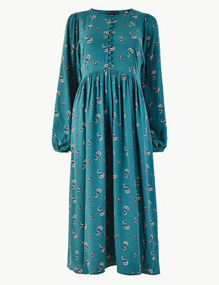Marks and Spencer Floral Midi Relaxed Fit Dress