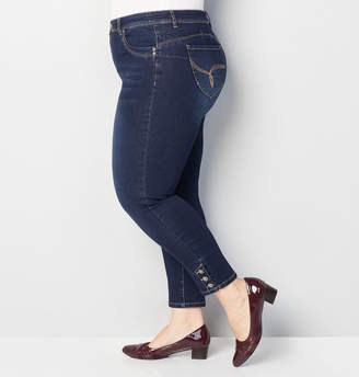 Avenue Snap Ankle Wanna Betta Butt Jean in Dark Wash