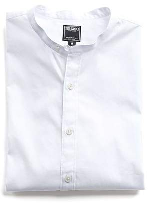 Todd Snyder Band Collar Shirt in White