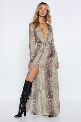 Nasty Gal Snake An Excuse Maxi Dress