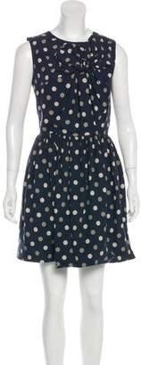 WHIT Silk Polka Dot Dress