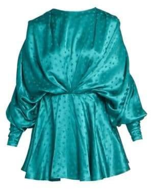 ATTICO Stars Jacquard Ruched Mini Dress