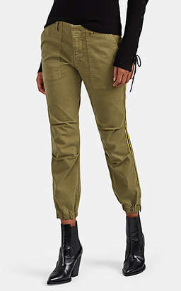 Nili Lotan Women's Cotton Twill Crop Pants - Sage