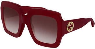 Gucci Oversized Square Web GG Sunglasses