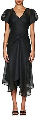 Ophelia HIRAETH Women's Mesh V-Neck Dress - Dk. Green