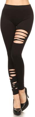 Yelete Slash Distressed Legging