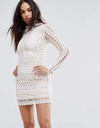 Missguided Lace Bodycon Mini Dress