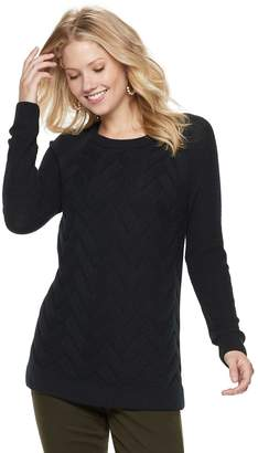 Sonoma Goods For Life Women's SONOMA Goods for Life Lattice Cable-Knit Crewneck Sweater
