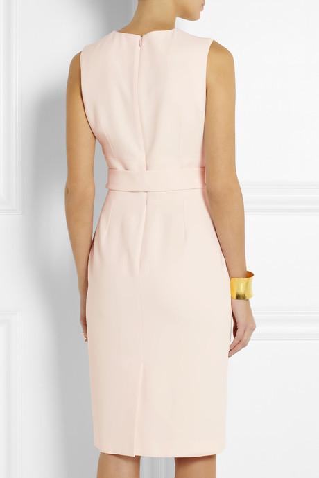 Alexander McQueen Belted crepe pencil dress