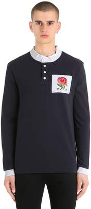 Kent & Curwen Rose Patch Mandarin Collar T-Shirt