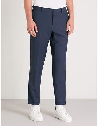 Sandro Prince of Wales-pattern wool trousers