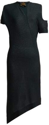 Vivienne Westwood Timans Asymmetric Midi Dress - Womens - Black