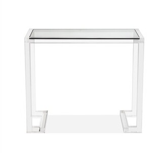 Interlude Ava Glass Writing Desk