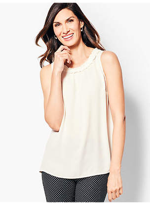 Talbots Ruched Shell - Solid
