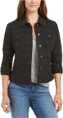 Style&Co. Style & Co Plaid Demin Jacket
