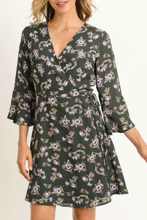 Boho Floral Wrap-Dress