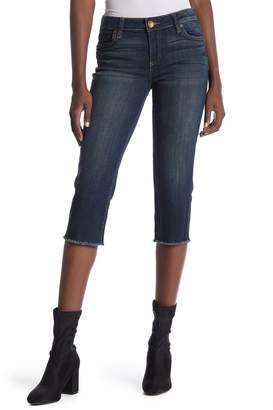 KUT from the Kloth Natalie Frayed Hem Crop Jeans
