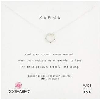 Dogeared Womens SS Mini Slide Karma Chain Necklace