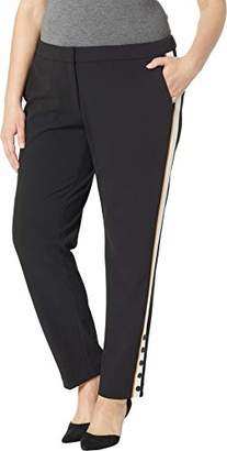 114b90461c8 Calvin Klein Women s Plus Size Pant with Contrast Stripe and Button