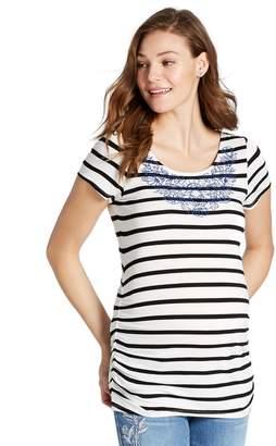 Motherhood Maternity Jessica Simpson Embroidery Maternity T Shirt