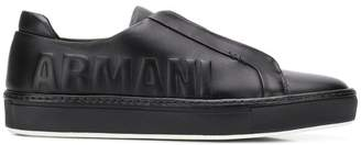 Giorgio Armani slip-on low top sneakers