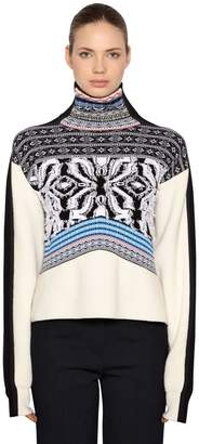 Sportmax Angora & Wool Blend Jacquard Sweater