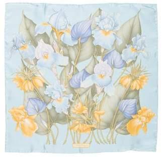 Salvatore Ferragamo Floral Silk Scarf w/ Tags