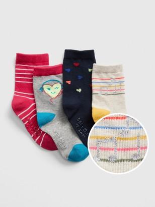 Gap Toddler Music Crew Socks (4-Pack)