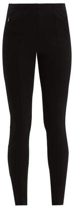 Balenciaga High Rise Stirrup Hem Skinny Trousers - Womens - Black