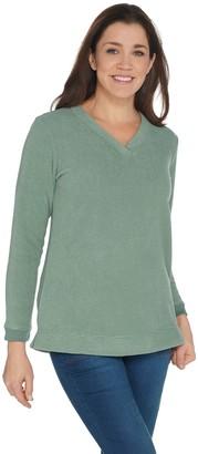 c457d1faeee Petite Womens Long Sleeve Fleece Tops - ShopStyle